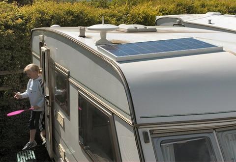 Zonnepaneel caravan