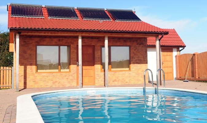 zonnecollector zwembad