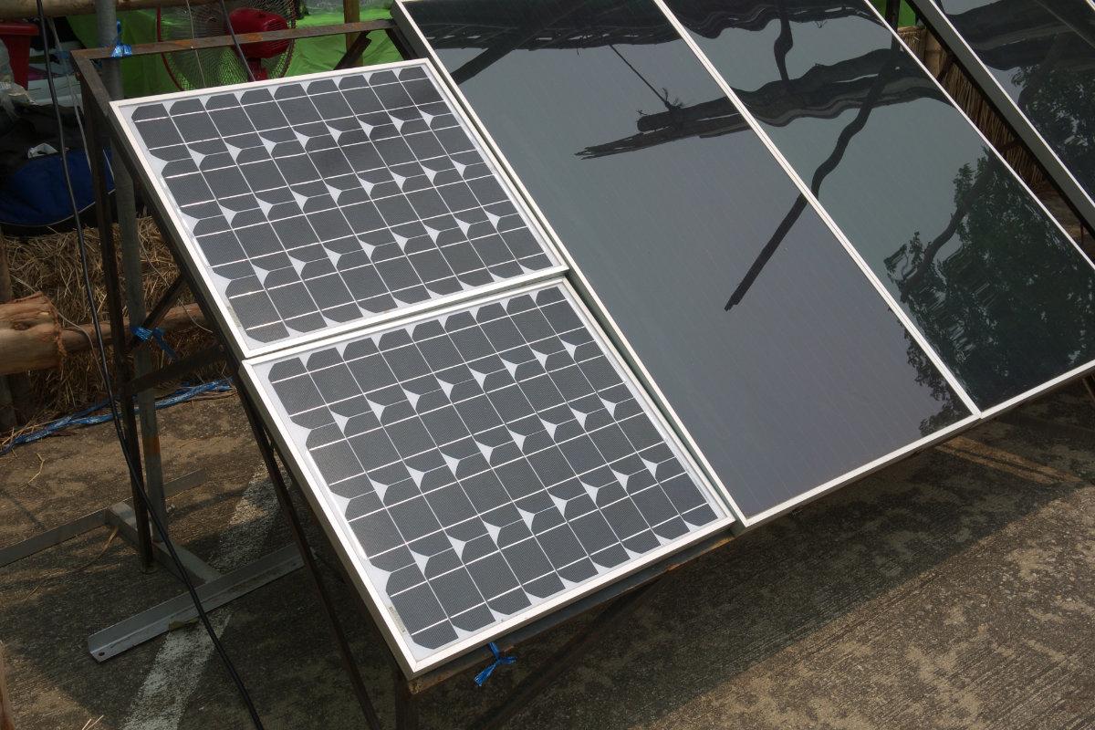 fotovoltaïsche zonnepanelen op grond
