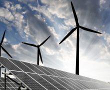wind-energie met zonnepanelen