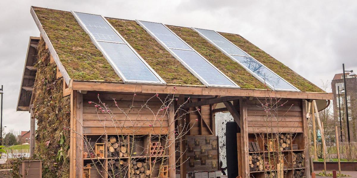 zonnepanelen dak tuinhuis